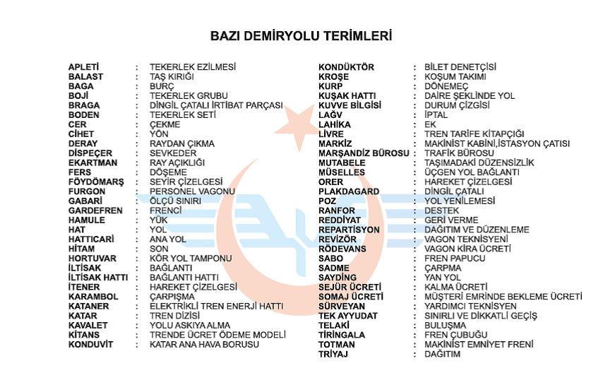 30  DEMİRYOLU TERİMLERİ 2